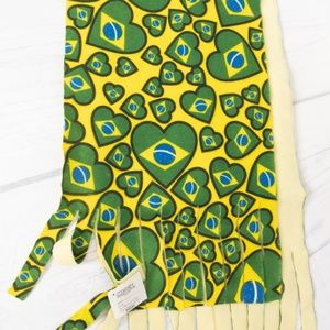 Brazilian Flag Fringes Scarf. New with tags.Brazil